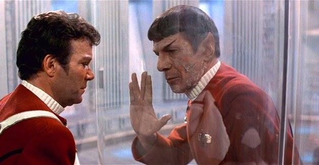 """""""I have been and always shall be your friend.""""  (still from film) - Star Trek II - The Wrath of Kahn'"""