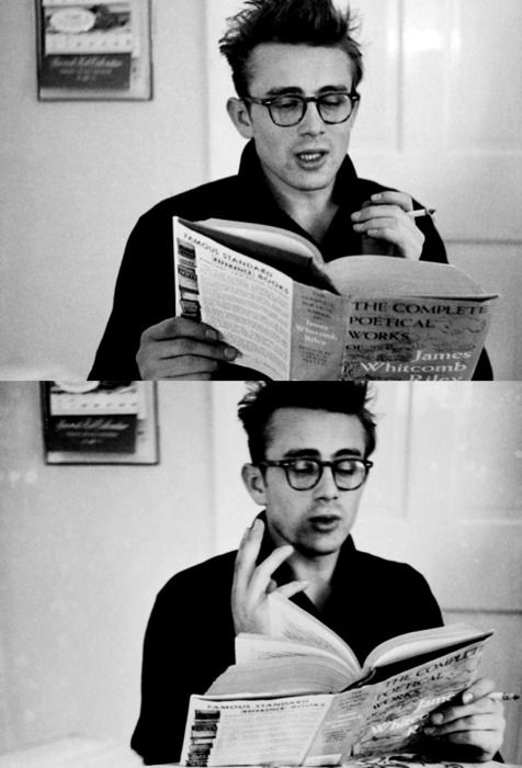 James Dean Reading Poetry: