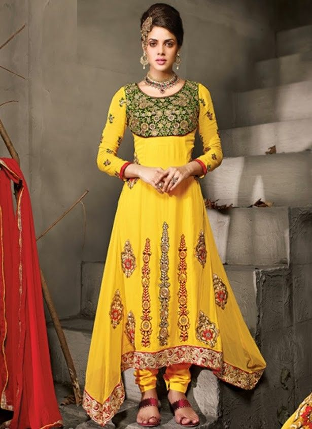 Heavy Work Long Designer Neck Style Salwar Suit With Dupatta | Salwar Kameez Online | Muslim Clothing | Indian Wedding Dresses Online Uk , Usa, Canada, France , Mauritius