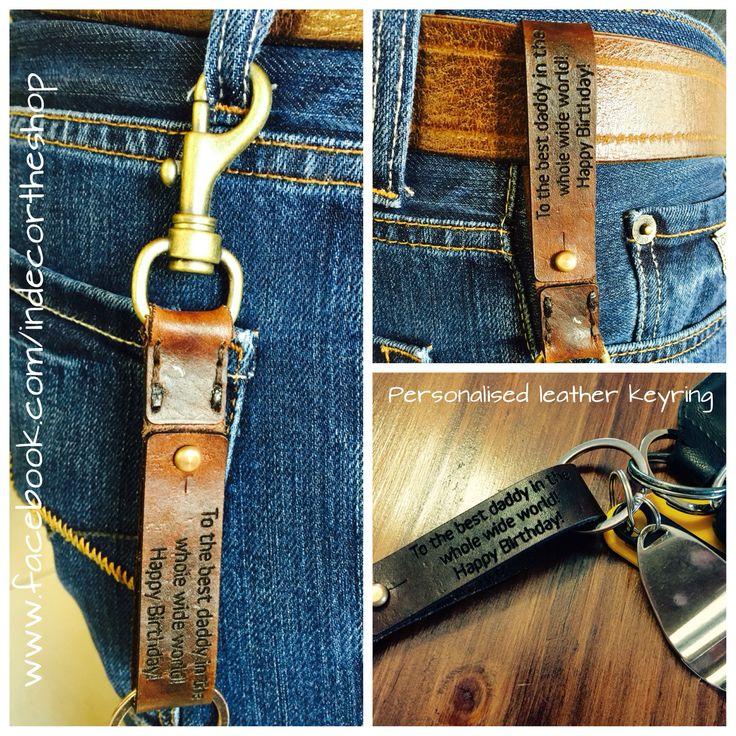 Custom leather key ring