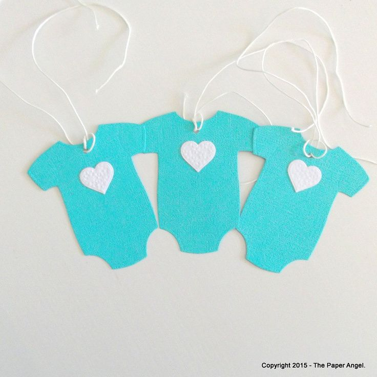 Baby Onesie Designed Gift Tags  Baby Gift Tags  Party Favour Tags Gift Tags Baby Shower Tags Neutral Baby Shower  Aqua   Pk of 20  GIFT016 - pinned by pin4etsy.com