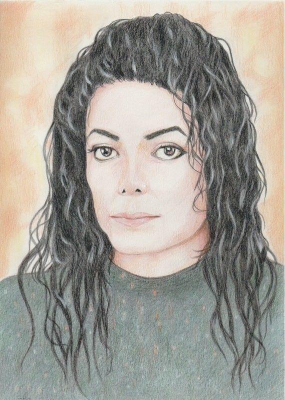 Michael Jackson - Portrait Farbstift - kein Druck - absolutes Unikat    eBay