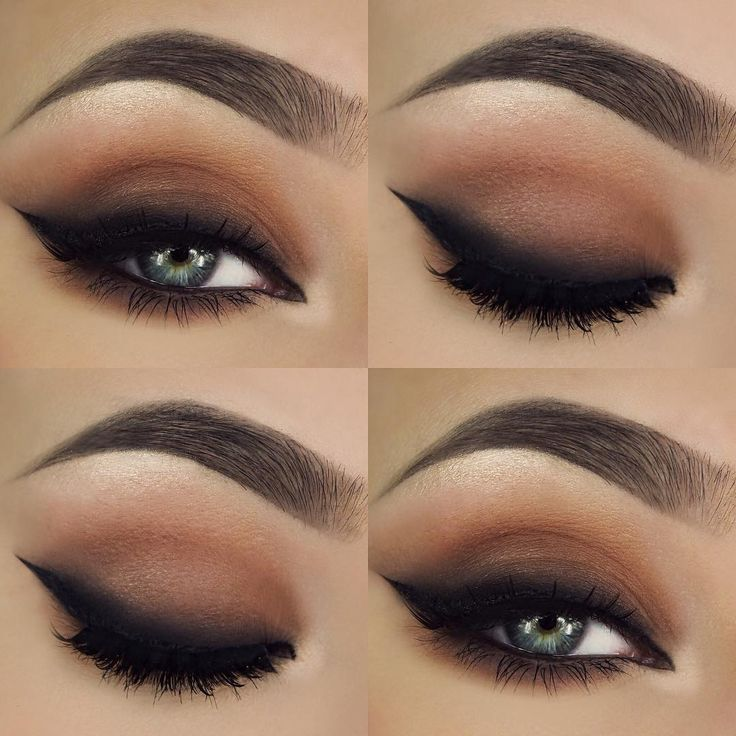 """I really like smokey eyeliners ✖️ For products used go to my previous post on this look "" @makeupthang ♡♥♡♥♡♥"