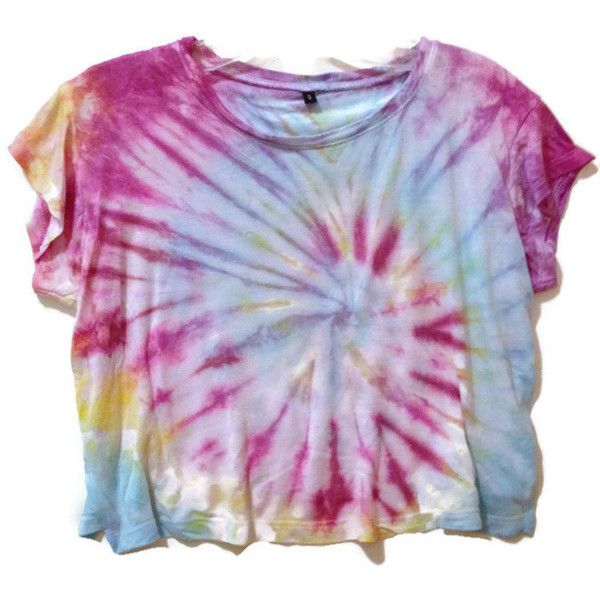 Tie Dye Crop Top Hippie 70s Tumblr Hipster ($22) ❤ liked on Polyvore featuring tops, t-shirts, print t shirts, tie dye shirts, hippie t shirts, purple tie dye shirt and lightweight t shirts