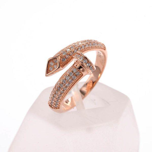 Δαχτυλίδι καρφί ασήμι 925 ζιργκόν