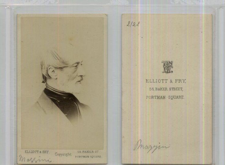 Elliott Et Fry, Londres, Giuseppe Mazzini    #CDV #portraits #Hommes_politiques