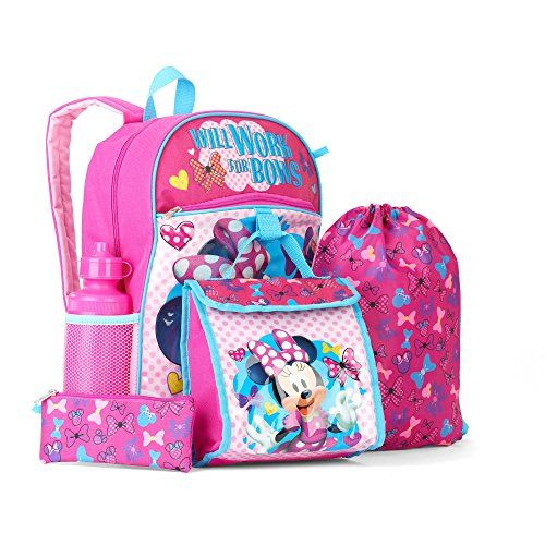 5ced00113f Minnie Mouse Girls 5-Piece Backpack Set Global Design Con... https