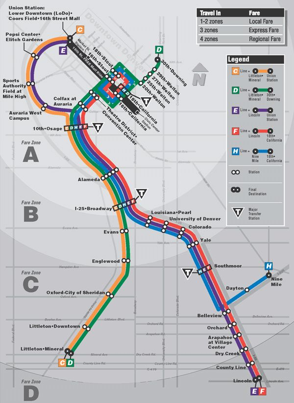Pin by Ryan Michael Dinkgrave on transit maps in 2019   Denver map Denver Public Transportation Map on
