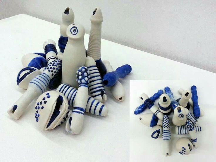 dildo whistles, porcelain, ^6