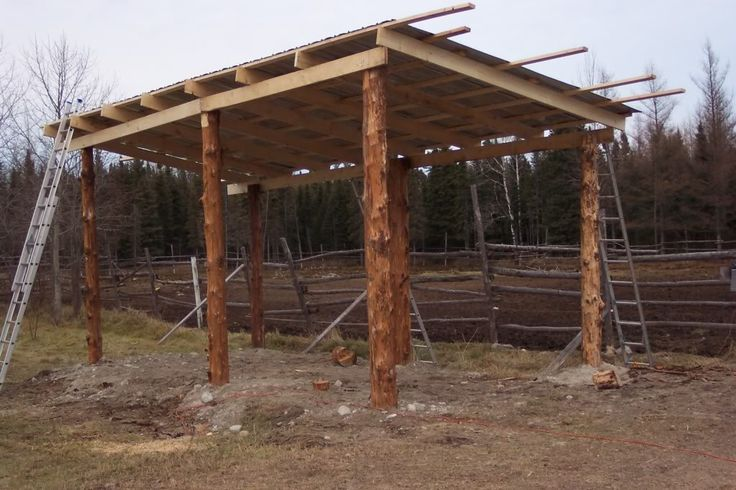 Horse lean to stalls lean to barn plans barn plans for Log pole barn
