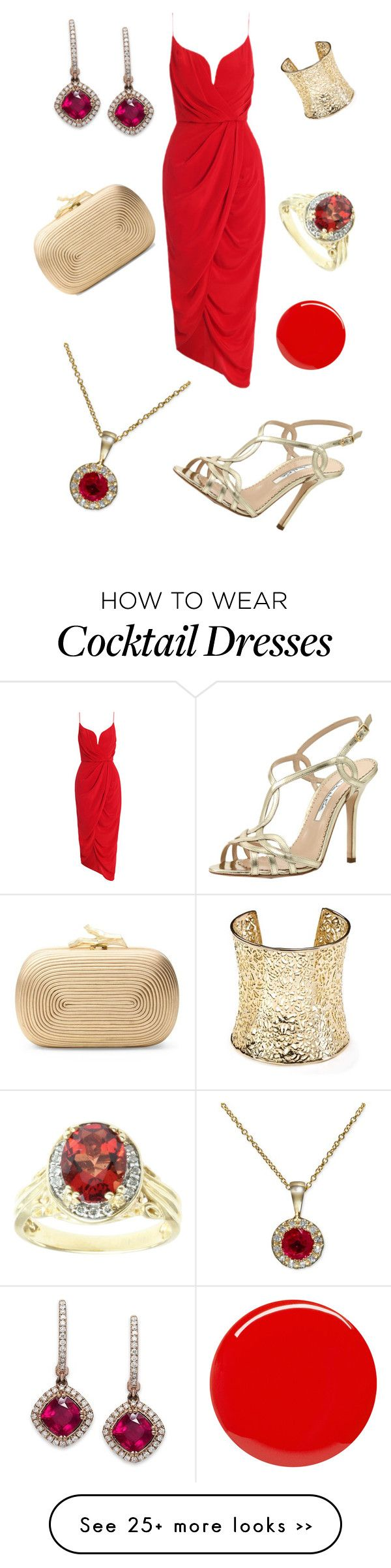 """""""Cocktail Night in Red"""" by colourmepretti on Polyvore"""