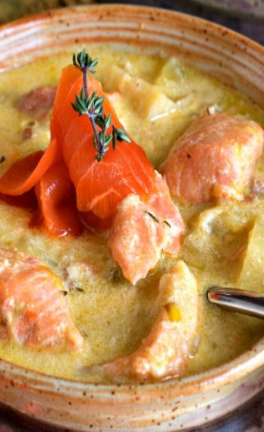 Salmon and Parsnip Chowder | Recipe