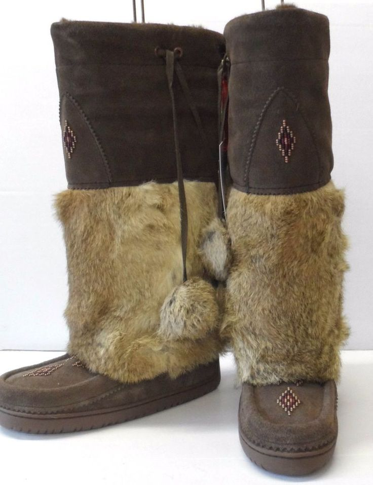 Mukluk Authentic Canadian Manitobah Tall Boots Brown UK 3,4,5,6,8 Winter New