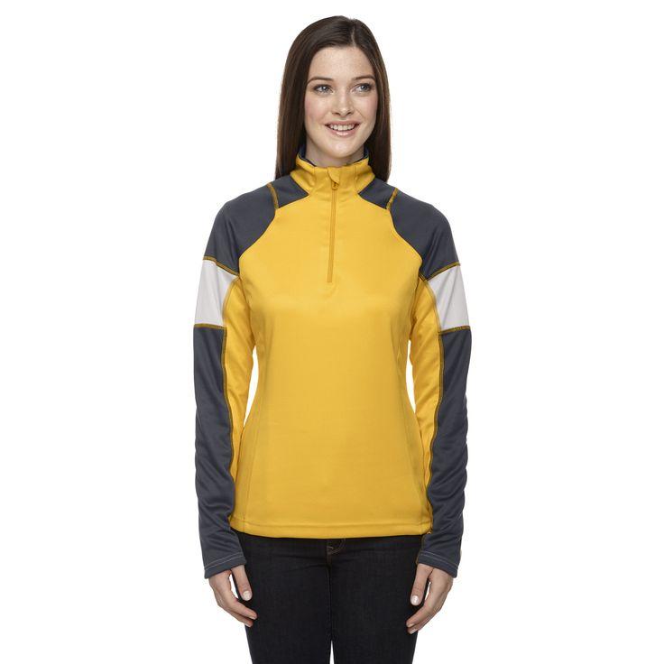 Quick Performance Women's Interlock Half-zip Top Campus Gold 444 Jacket