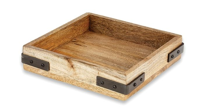 You'll be California dreaming with this Napa inspired serving tray. Rich wood and industrial metals are combined for a rustic modern look. Don't forget the Cabernet