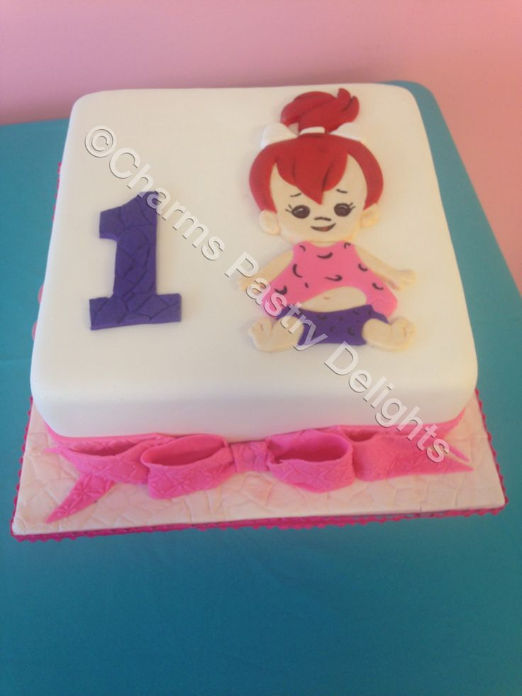 pebbles cake for a VERY happy little