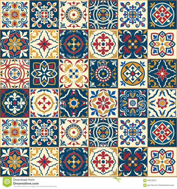 Gorgeous Seamless  Pattern . Moroccan, Portuguese  Tiles, Azulejo, Ornaments. - Download From Over 57 Million High Quality Stock Photos, Images, Vectors. Sign up for FREE today. Image: 64576012