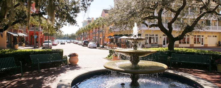 Celebration, Florida. This is Disney's own town. Really, really, nice...