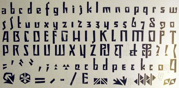 Czech Cubist font Vojtĕch Preissig's Typeface (1914)  via @AnickaDIAGA