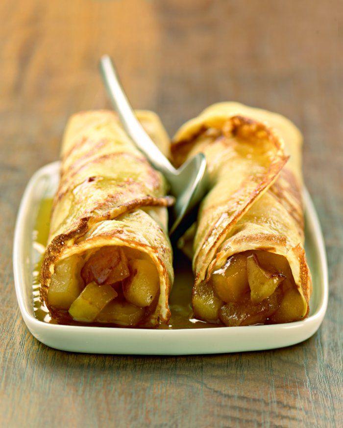Crêpes aux pommes au beurre salé et sirop d'érable