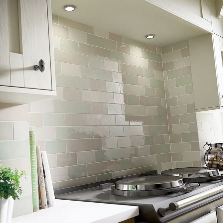 Pic Of Laura Ashley Brick Wall Tiles Kitchen or Bathroom various colours available Laura Ashley Artisan Eau de Nil Wall x u The Cornwall Tile Company