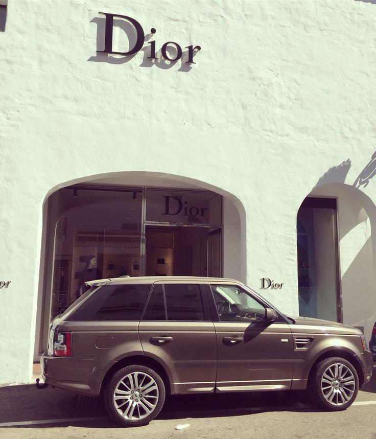Marbella puerto banus shopping Range Rover Dior style fashion