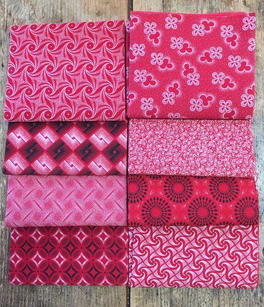 Canada150 Red Bundle of 8 Red Shweshwe FQs!