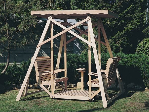 Outdoor Glider Swing With Canopy Woodworking Projects