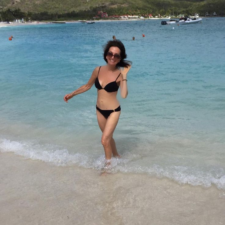 "Susan Lucci:""M-mmm ""feeling free in St Barth""s""!!! How did I get bikini-ready?  Watch me on QVC next Saturday morning-Feb 27th! I will premiere The Pilates Pro Chair--…"""