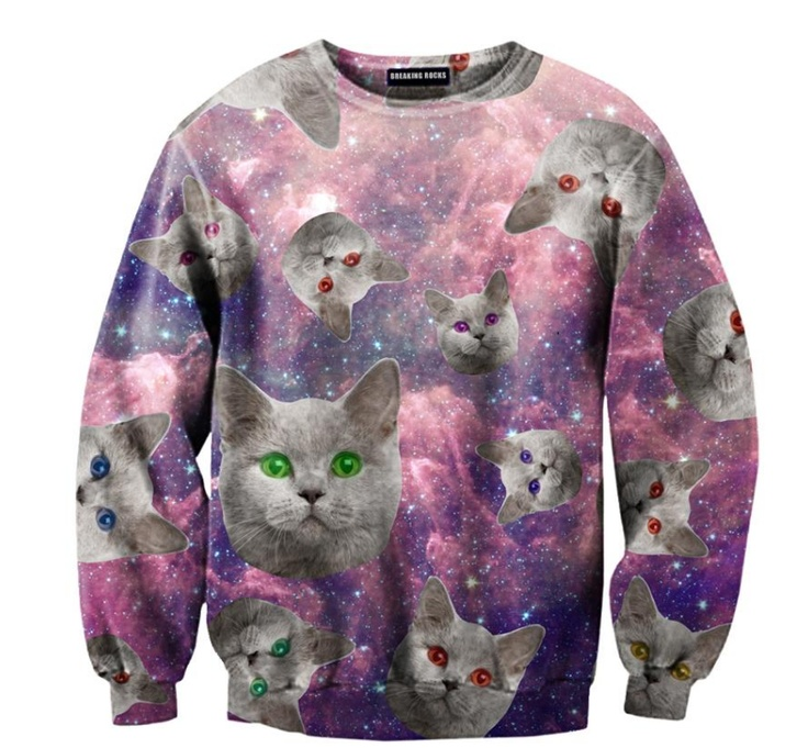 Hilariously Outrageous Cat Sweaters , Reach Up and Touch a