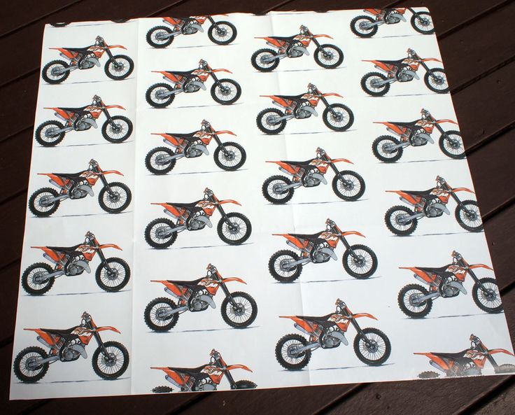 "KTM Motorcycle Gift Wrap | Satin Finish | 23 x 26"" (59 x 66cm) 
