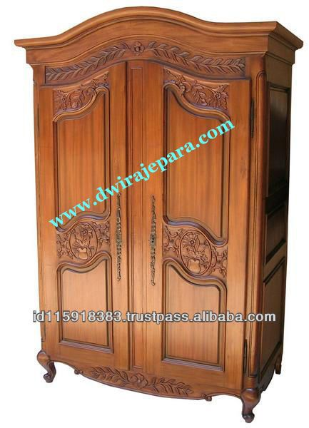 Arch Topped Antique Reproduction Armoire With Carved Doors   Antique Reproduction  Furniture   Buy Furniture,