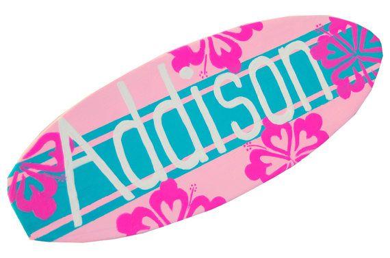 Surfbrett-Dekor, Mädchen 18-Zoll-personalisierte Beach Kindergarten Surf Board Wall Art, Strand-Schilder, Baby Surfer Dekor, Surfboard-Zeichen
