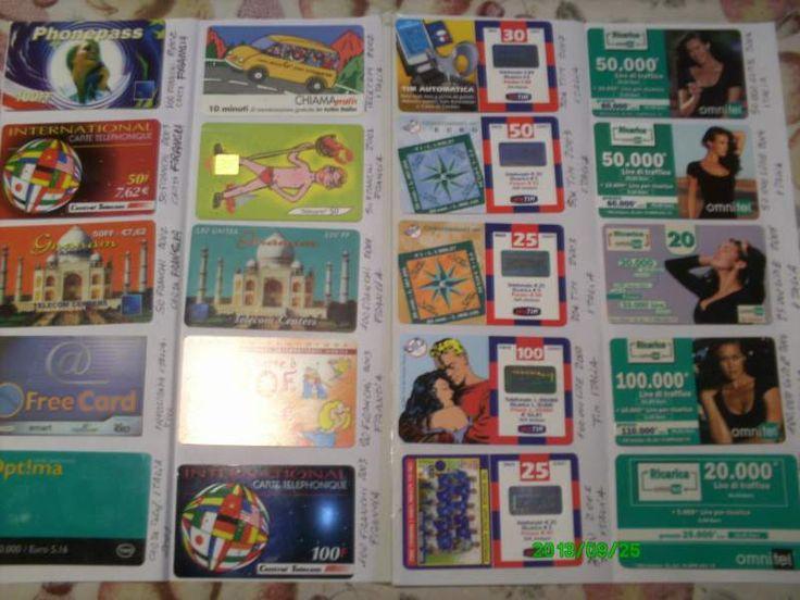 Carte telefoniche da collezione 2001/2007