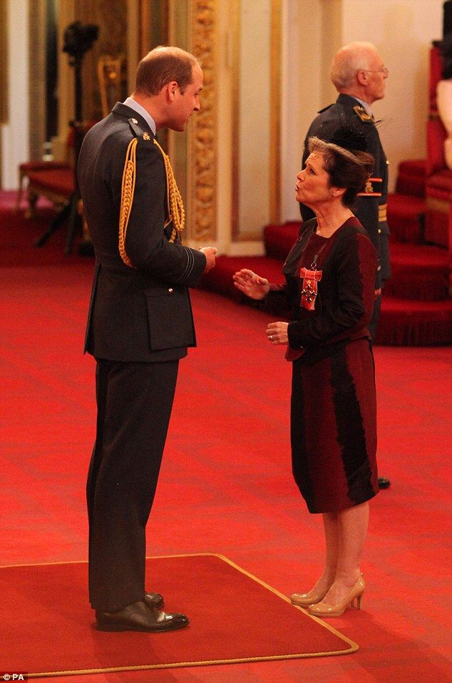 Prince William gave Imelda Staunton her CBE today for her services to drama, when he told ...