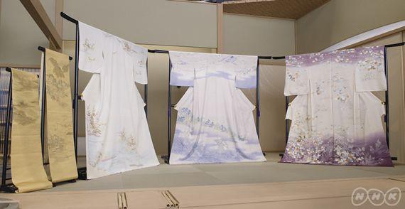 江戸時代に誕生した友禅染の代表的な模様の一つ、それが「風景模様」。 当時の旅行ブームを背景に「日本三景」や「近江八景」など名所名跡が数多く描かれました。 風景を模様にして身にまとうのは日本独特の文化です。