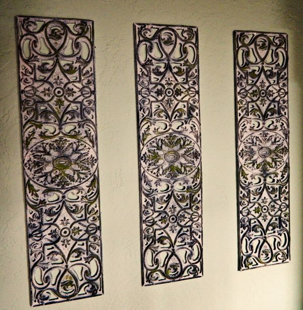 DIY Wrought Iron Artwork From Rubber Door Mat