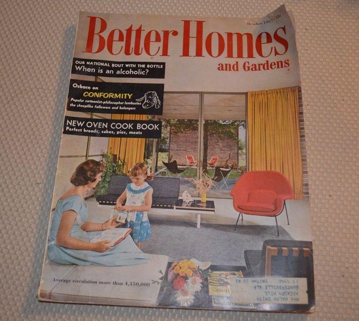 Vintage Better Homes And Gardens Magazine October 1957 Ebay