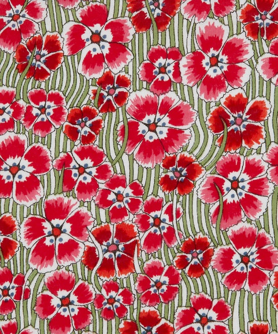 Textile red green white