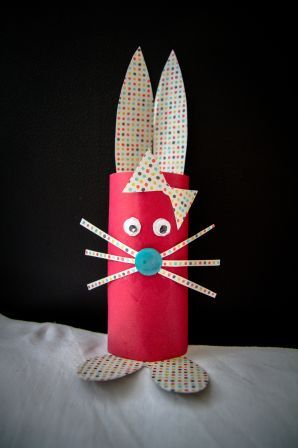 J\u0027ai fait un lapin avec un rouleau de papier toilette, pour ma petite