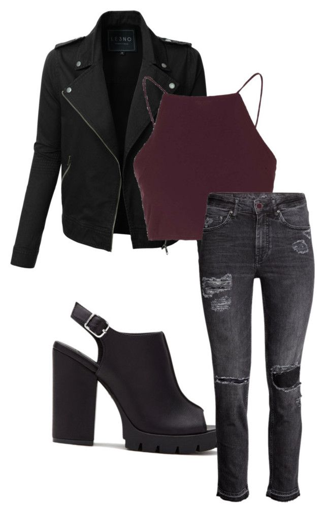 """""""Maya Hart"""" by xmartina on Polyvore featuring moda, Forever 21, LE3NO i Topshop"""