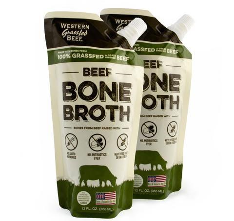 100% Grass Fed Beef Bone Broth-2 pack