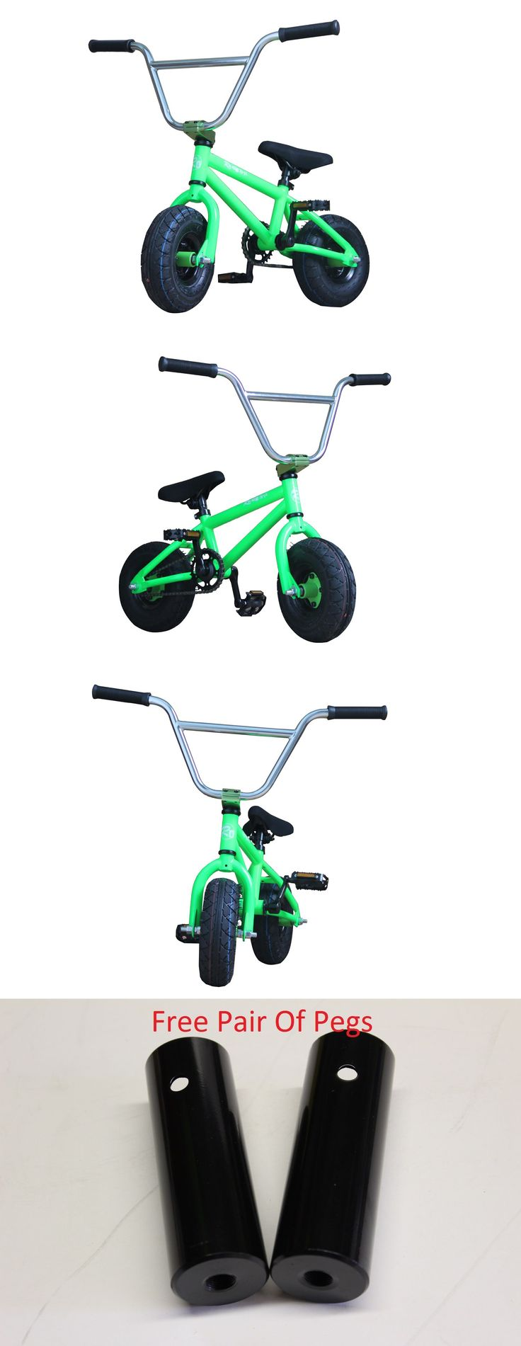 Skateboards-Complete 16264: R4 Mini Bmx Bike Pro Monster Green Jump Stunt Trick, Pegs Included -> BUY IT NOW ONLY: $199.99 on eBay!