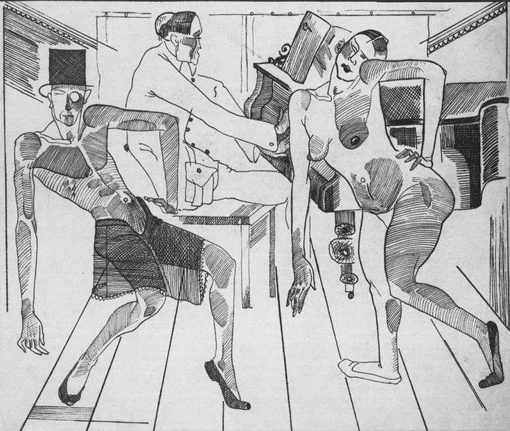 Художник Александр Дейнека. Графика. Эстрадный танец. 1922