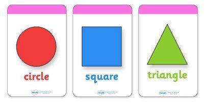 2D Shape Flashcards (inc. Shape Names) -