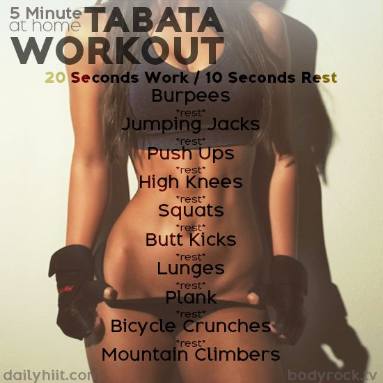 A Tabata is a high-intensity workout protocol that has fitness and weight-loss benefits. It is also a very short workout with completing 20 seconds of a ce