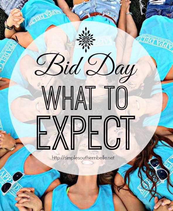 Sorority Bid Day is here! What should you expect and what do you wear?!  http://simplesouthernbelle.net/