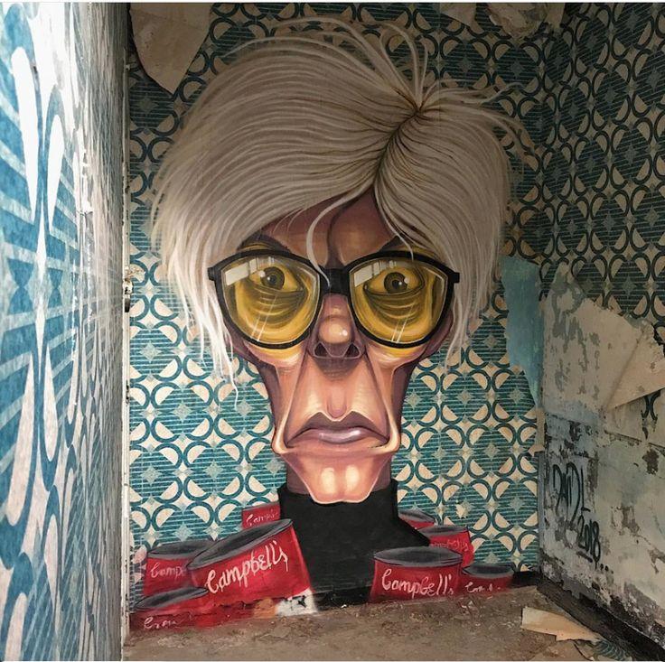 "David L, ""Andy Warhol"" in Barcelona, Spain, 2018"