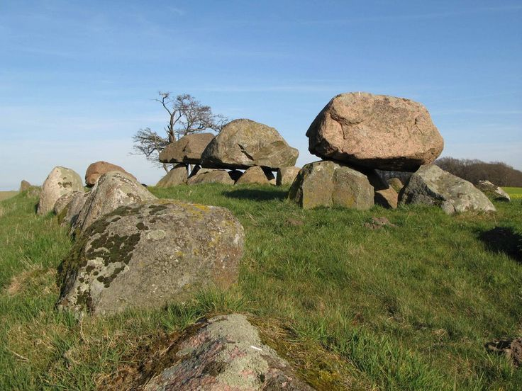 Ancient cromlechs (Stendysse) at Ellested, Fyn