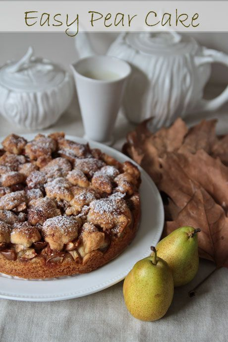 easy pear cake - this tastes amazing and is very easy to make.